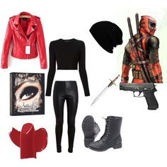 """""""deadpool inspired outfit"""" by cheley-crowhurst on Polyvore"""
