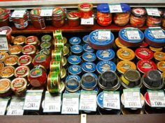 caviar section at the fabulous Kuznechny Market in St. Petersburg, Russia!