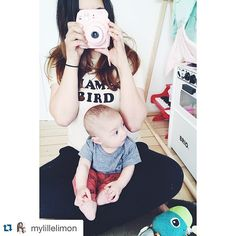 #Repost @mylillelimon with @repostapp. ・・・ Living in my Mama bird tee  and scoring some major mommy points with this insta mini 8  #instamini8 #thebeeandthefox #bobochoses #suchgreatheights_kids #mylillelimon #whimsytails #luckyboysunday #poconido #mamabird #instax #lamazetoys