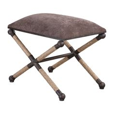 Shop for the Uttermost Accent Furniture - Ottomans Evert Taupe Brown Accent Stool at Jacksonville Furniture Mart - Your Jacksonville Areas, and servicing Gainesville, Palm Coast, Fernandina Beach Furniture & Mattress Store Accent Furniture, Living Room Furniture, Modern Furniture, Brown Cushions, Seat Cushions, Small Bench, Wood Dust, Transitional Decor, Nesting Tables