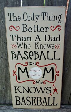 Baseball Mom primitive wood sign typography by PrimitiveHodgePodge