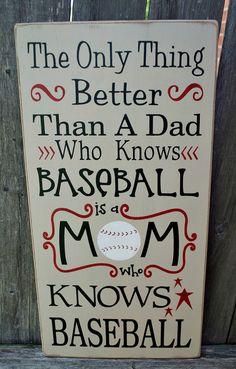 Baseball Mom primitive wood sign typography by PrimitiveHodgePodge
