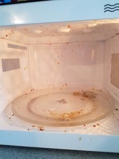 """I decided to try the""""No Effort Microwave Cleaner""""that you can see on Pinterest literallyeverywhere. It worked great but I would add some…"""