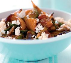 Cheat's Feta and Roasted Veg Couscous Recipe: Cook Vegetarian Magazine