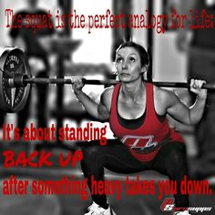 The Squat Is The Perfect Analogy For Life. Itu0027s About Standing Back Up  After Something Heavy Takes You Down. | Fitness Motivation | Pinterest |  Squat, ...