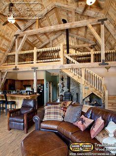 Gambrel Barn Home - Sand Creek Post & Beam - Traditional Wood Barns and Post & Beam Homes