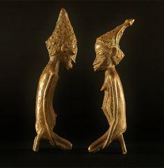 African Pair Figures, West-Africa #991 | Figures | Metal — Deco Art Africa - Decorative African Art - Ethnic Tribal Art - Art Deco