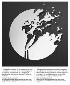 50 Awe-Inspiring Advertising Paper Art Illustrations By Eiko Ojala Art And Illustration, Art Illustrations, Map Design, Graphic Design, Global Warming Poster, Eiko Ojala, Art Environnemental, Art Graphique, Environmental Art