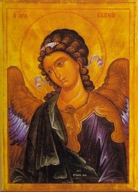 the small version, 6X4, would be perfect for my icon corner.  I love the angels!