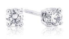 1/3 Carat TW Round Diamond Stud Earrings