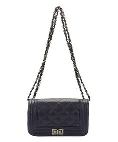eb55761558e0 Giulia Massari Blue Quilted Leather Crossbody