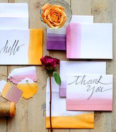 "Multi-Tonal ""Thank You"" Cards"