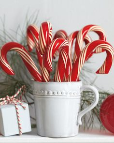 Hammond's Candy Canes ~ delectable milk-chocolate-filled candy cane.