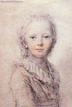 Unfinished portrait of Dauphin Louis Charles (1789) - attributed to Augustin de Sain-Aubin.