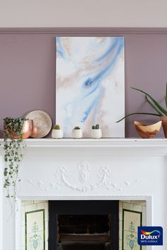 If painting your walls isn't possible, a fun way to add interest is with watercolour artwork.