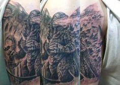 30 Seriously Good Godzilla Tattoos (30 photos)