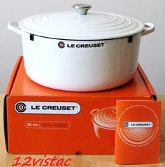 Le Creuset White - large enough to cook a chicken