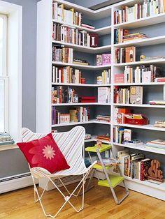 floor to ceiling bookcase   floor-to-ceiling bookshelves, corner   Built-in Shelves & Office/Den ...