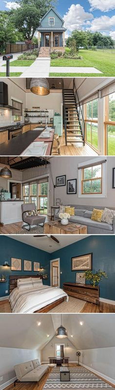 The smallest home featured on Fixer Upper: just sq ft and now.The smallest home featured on Fixer Upper: just sq ft and now. Architectural Designs Tiny House Plan gives you square feet of heated living space. Tiny House Movement, Fixer Upper Shotgun House, Tiny Homes, New Homes, Interior Design Minimalist, Casas Containers, Tiny House Nation, Tiny House Living, Living Room