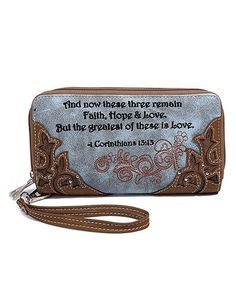 964d975717b1 Blue Heaven Blue   Brown 1 Corinthians 13 13 Wallet