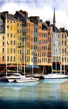 French Yachts, Honfleur, France by C. Van Horn