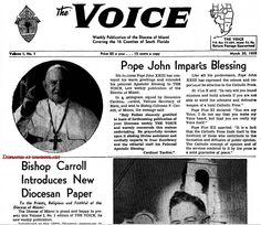 1959 – 1st issue of the VOICE, serving the Catholic Diocese of Miami covering 16 counties of South Florida - Amazing Midcentury Photographs of Miami  Page 2 of 2  Best of Web Shrine
