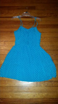 Xhiliration dress zip front. Teal with grey dots worn once. $15 shipped Size XL