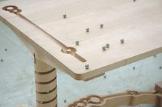 Table ontwerpduo with marble marbles