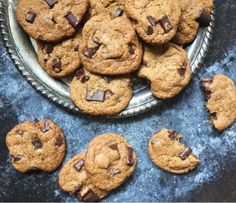 """These cookies are so legit. They're all the things a chocolate chip cookie should be. They're also another one of those that require the disclaimer """"this is not health food""""! They have sugar in the"""