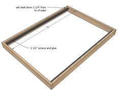 ana white Build your own bed frame! This platform style bed frame is easy to build with off the shelf lumber and basic construction. Stain or paint to match your style or decor. Our free pla