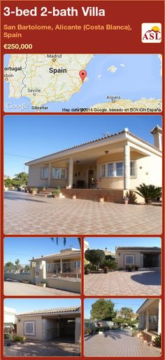 3-bed 2-bath Villa in San Bartolome, Alicante (Costa Blanca), Spain ►€250,000 #PropertyForSaleInSpain
