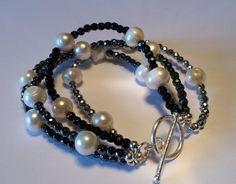 Bracciale ematite perle e argento di cledigioARTdesign su Etsy