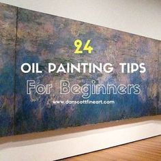 Check out my top 10 oil painting tips for beginners. Oil paints I find are extremely versatile when compared to acrylic & watercolor paints. #OilPaintingForBeginners