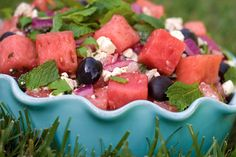 melon feta salad - perfect summer side salad