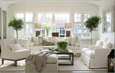 Nantucket style...there's my favorite coffee table.  All white--beautiful to look at, but not sure I could ever pull this off in real life, even when the kids are grown and gone  :)