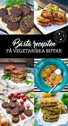 9 bästa recepten på vegetariska biffar Clean Eating, Healthy Eating, Vegetarian Recipes, Healthy Recipes, Swedish Recipes, Everyday Food, Food Inspiration, Good Food, Brunch