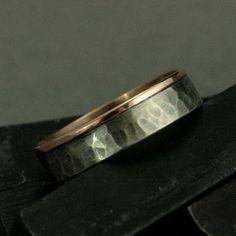Centurion Band14 K Rose Gold Ring  hoch poliert  von RevolutionBA, $165.00