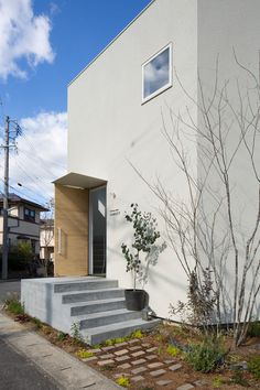 Healing Salon Forest is a minimalist building located in Gifu, Japan, designed by Airhouse. Japanese Architecture, Contemporary Architecture, Architecture Design, Open Ceiling, Salon Design, House 2, Building Design, Facade, Salons