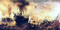 """Naval Battle of Riachuelo""""by Victor Meirelles (1883)"""
