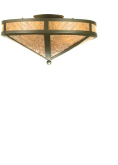 16 Inch W Craftsman Prime Flushmount. 16 Inch W Craftsman Prime flush mountThis handsome mission style flush mount is handcrafted|in the USA by Meyda artisans, finished in Timeless Bronze and has Silver mica panels. Theme:  RUSTIC Product Family:  Craftsman Prime Product Type:  CEILING FIXTURE Product Application:  FLUSH MOUNT Color:  TIMELESS BRONZE/SILVER MICA Bulb Type: MED Bulb Quantity:  2 Bulb Wattage:  60 Product Dimensions:  7.5H x 16WPackage Dimensions:  NABoxed Weight:...
