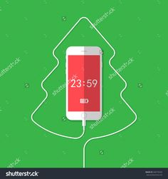 stock-vector-phone-wire-christmas-tree-clock-340770320.jpg (1500×1600)