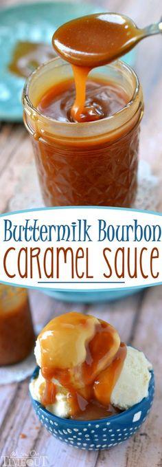 You may never buy caramel sauce again after you make this incredible Buttermilk Bourbon Caramel Sauce – bourbon optional!