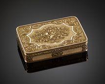 19th century Swiss gold snuff box