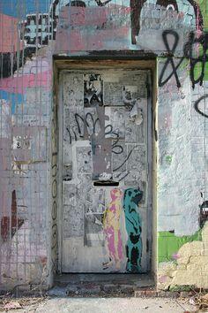 Painted Graffiti Door in Williamsburg Brooklyn