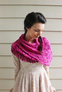Ravelry: Kala pattern by Gabriella Henry  Beautiful lace, luscious silk yarn, generous asymmetric shape #knitindie