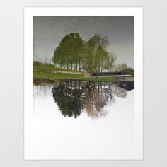 Reflected Reflection Art Print by Amber Edmond - $15.00