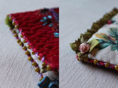 embroidered edges