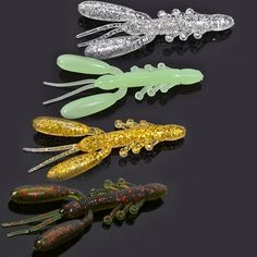 Package Included: One package with 10 pieces Weight: 16g per pack Color: 4 choices Length: 51mm per piece 1. Soft shrimp fishing lures.  2. Hollow chela.  3. Model is distinctly vivid.  4. Fits for bass, mandarlin fish, trout and so on.