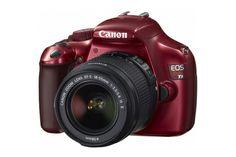 EOS Rebel T3 Red EF-S 18-55mm IS II Lens Kit   Digital SLR Camera #canon