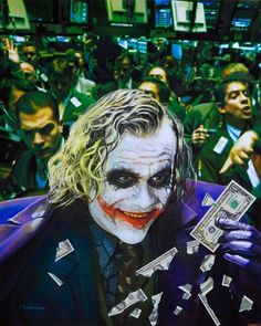 The Joker - Chaos at the stock Market - Hilarious realistic paintings